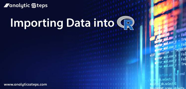 Importing Data into R title banner
