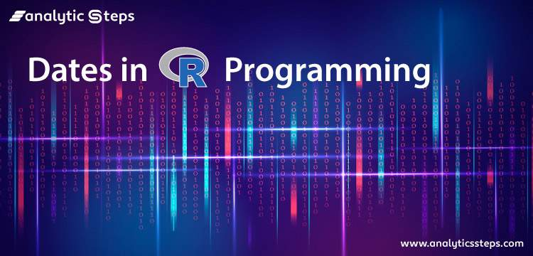 Dates in R Programming title banner