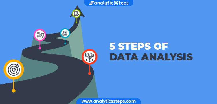 5 Steps of Data Analysis title banner